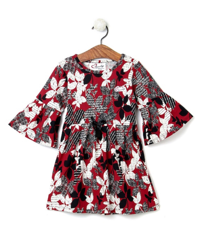 mandy-dresses-red-and-black-floral-frill-arm-dress-ac-866-1