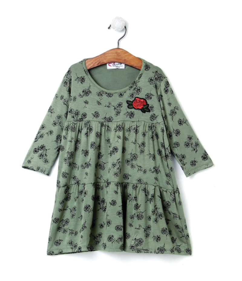 mandy-dresses-red-rose-patch-olive-green-layered-dress-ac-868-1