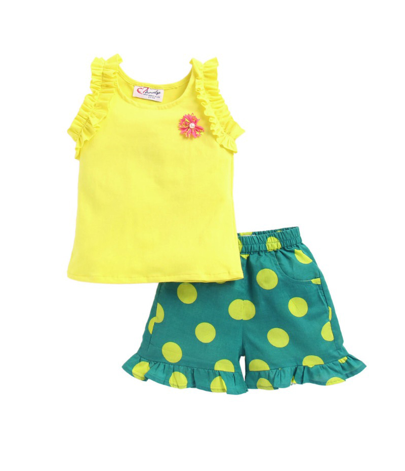 mandy-dresses-yellow-frill-top-with-polka-dot-shorts-ac-940-1
